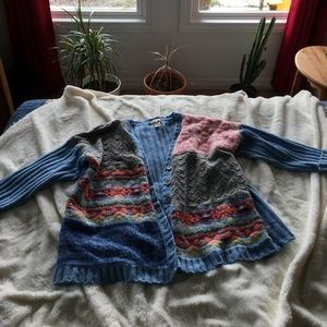 sundance patchwork sweater